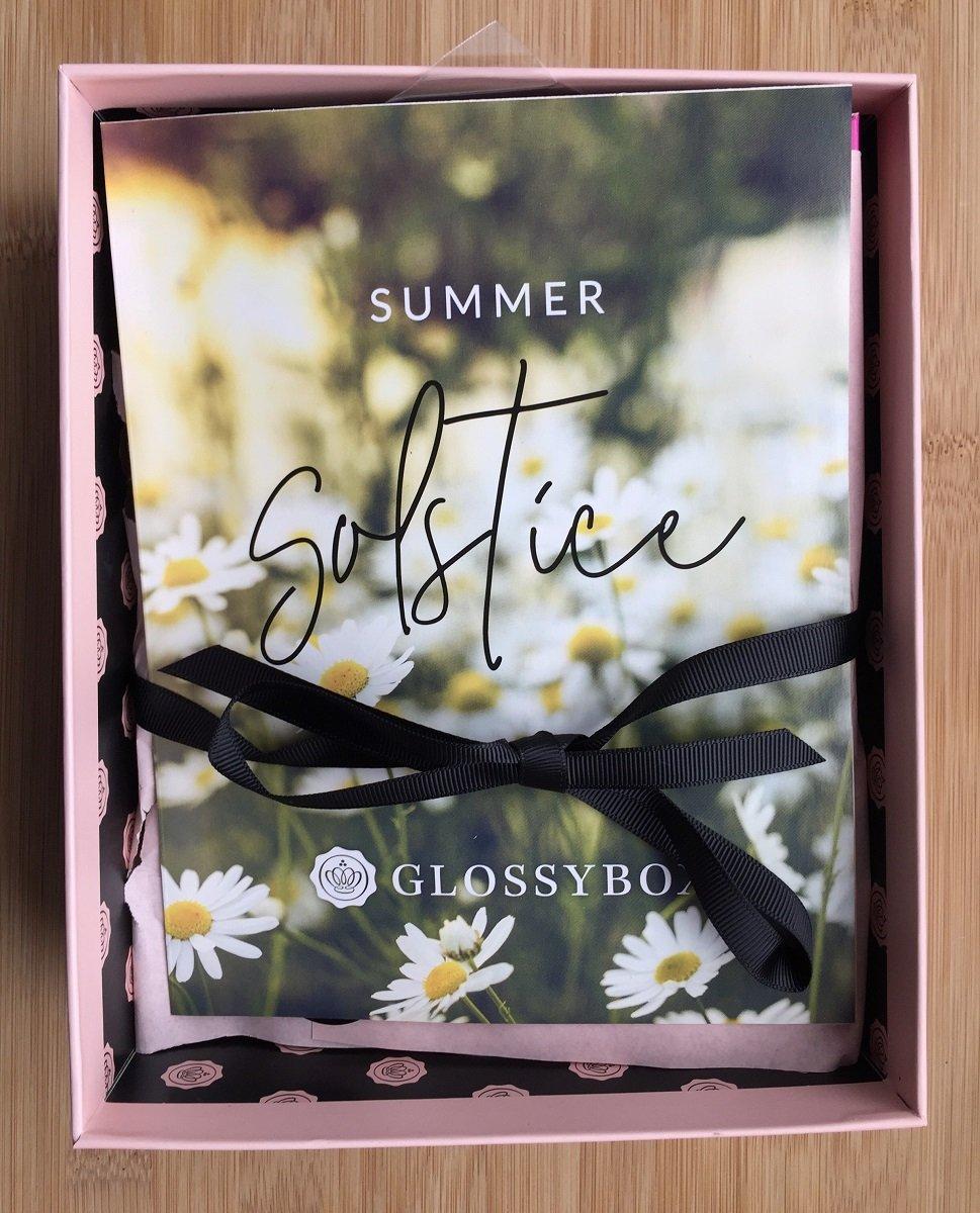 June Glossybox opened