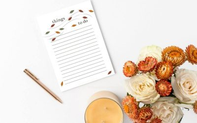 Free Printable To Do Lists: Cute Pumpkins and Fall Leaves
