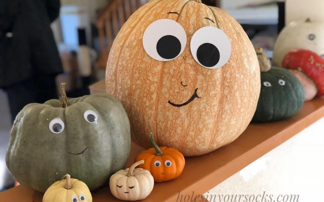 The Easiest, Cutest No-Carve Pumpkin Faces Idea